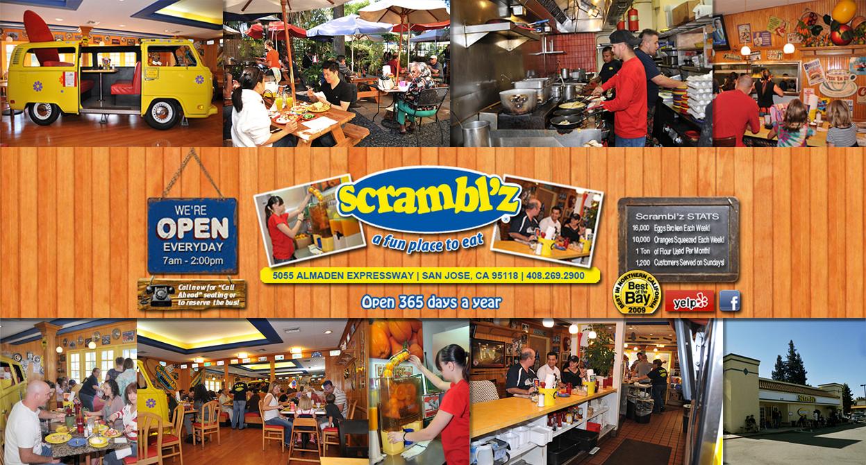 Scrambl'z Almaden is a great place to eat.